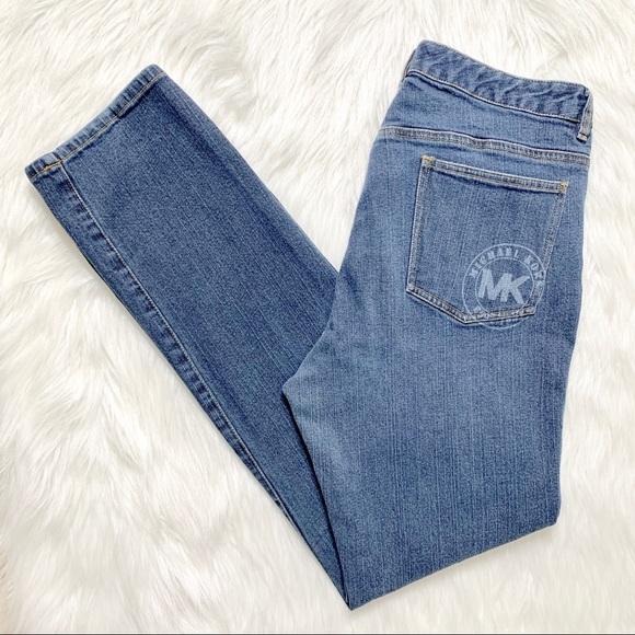 Michael Kors Denim - Michael Kors Logo Straight Leg Jeans
